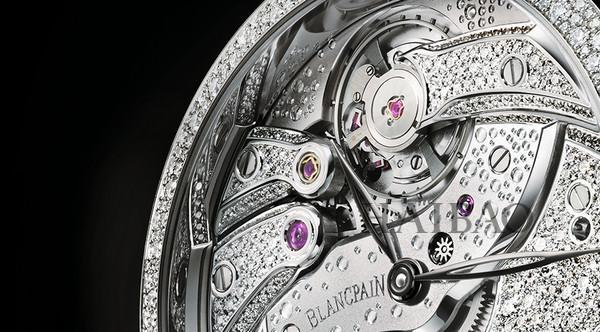 宝珀(Blancpain) Villeret经典系列反转机芯雪花镶钻腕表
