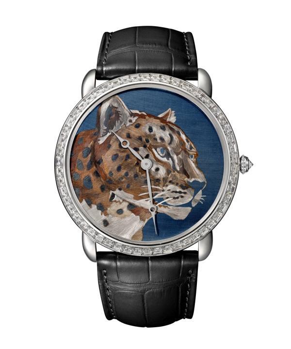 卡地亚全新Ronde Louis Cartier 火金工艺腕表