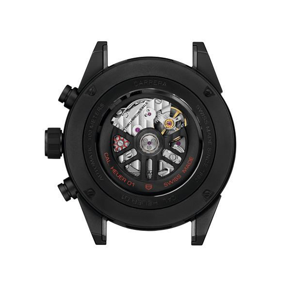 泰格豪雅卡莱拉系列HEUER-01全黑亚光陶瓷款